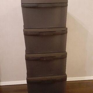 衣類収納ケース4段  チェスト 棚 シェルフ