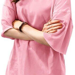 Tシャツ☆ シンプル【 カットソー ♡ レディース ピンク 】~...