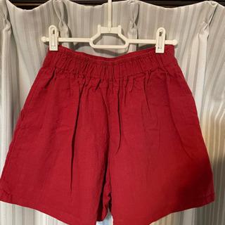 未使用品 パンツ 赤い