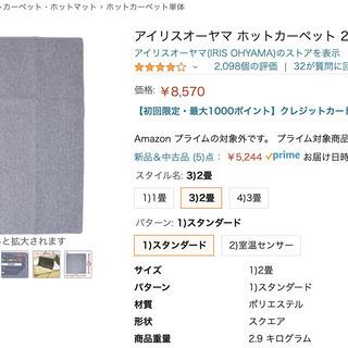 受け渡し予定者決定済み【500円】ホットカーペット 2畳 176...