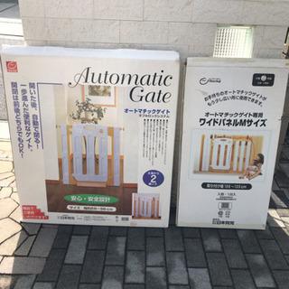 【値下げ】日本育児 オートマチックゲイト ベビーフェンス オプシ...