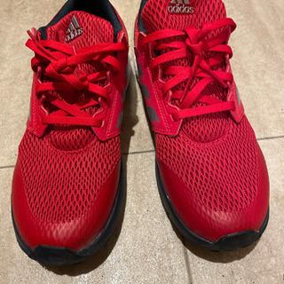adidas スニーカー 赤 25cm メンズ