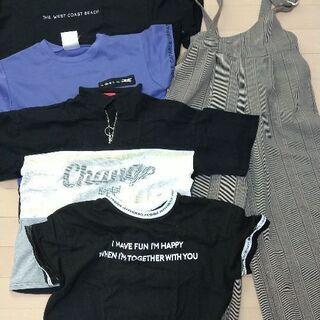女子150サイズ〜Sサイズ オーバーオールとTシャツ セット