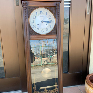 【ネット決済】ゼンマイ壁掛け時計 SEIKO