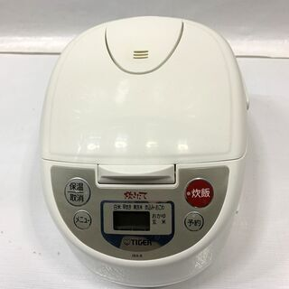 TIGER タイガー 炊飯器 5.5合炊き JBA-B100 アーバンホワイト マイコン炊飯ジャー  中古 C - 福井市