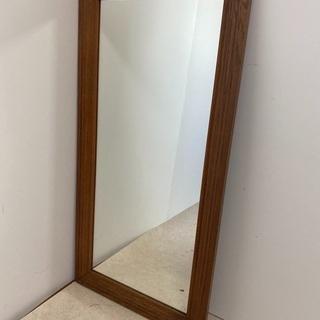 アンティーク オーク材 ウォールミラー 姿見 鏡