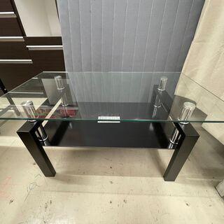 GM373 ガラステーブル センターテーブル ブラック ローテー...
