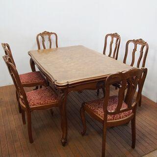 アンティーク フレンチダイニングテーブル ドローリーフテーブル ...
