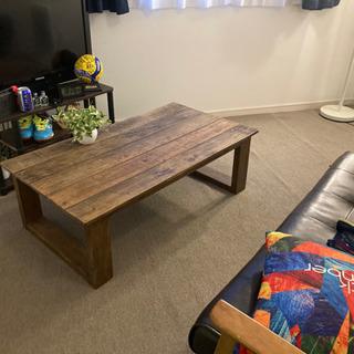 モダン 木製 テーブル 手作り感満載