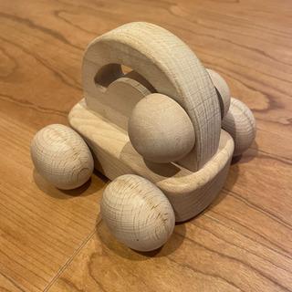 国産天然木◆くるまのおもちゃ◆オルゴール付