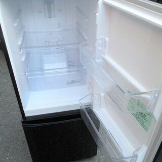 ☆三菱 MITSUBISHI MR-P15A-B 146L 2ドアノンフロン冷凍冷蔵庫◆2016年製・お洒落なラウンドカットデザイン - 家電