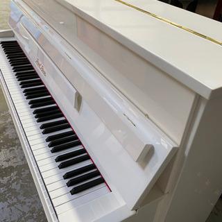 【ネット決済】♬白いアップライトピアノ Pearl&river