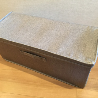 【状態良】収納ボックス、グレー、折りたたみ式