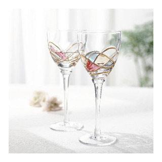 ★新品 未使用★ワイングラス エトワル ステンドグラス風
