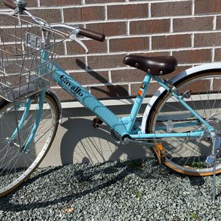 24インチ 自転車  ヘルメット付きの画像