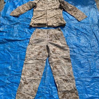 米軍、アメリカ軍、海兵隊、キャップ、戦闘服、上下、セット