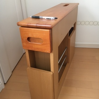 マガジンラック+ティッシュボックス付きサイドテーブル