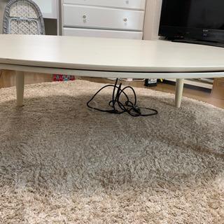 【ネット決済】大きめ白色ローテーブル(冬はこたつとして利用可能!)