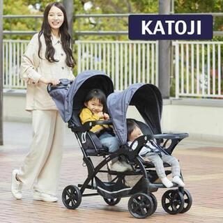 カトージ KATOJI ベビーカー 二人乗り コンパクト 縦型 ...