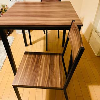 【ネット決済】2名掛けダイニングテーブル&チェア