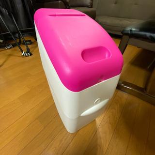 おむつポット おむつごみ箱 ピンク