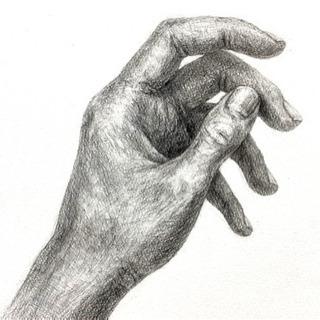 《美術教室Hibi》鉛筆1本でリアルな手を描いてみよう!☆初めて...