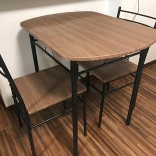 ダイニングテーブル イス2脚 組立済