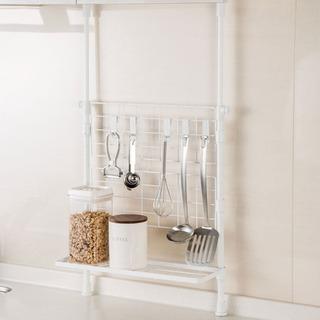 美品 ニトリ キッチン突っ張りラック タフメッシュ