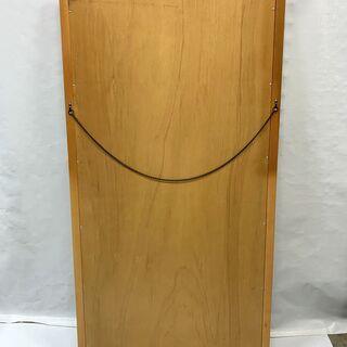 木製 大型ミラー 全身鏡 幅845×高さ1620×厚み20mm 姿見 壁掛け ダンス レッスン インテリア 中古  - 福井市