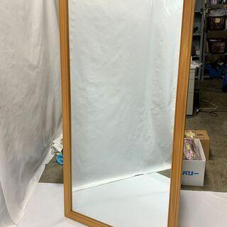 木製 大型ミラー 全身鏡 幅845×高さ1620×厚み20mm 姿見 壁掛け ダンス レッスン インテリア 中古 の画像