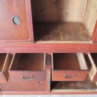 金沢水屋 水屋箪笥 杉製 ケヤキの板戸