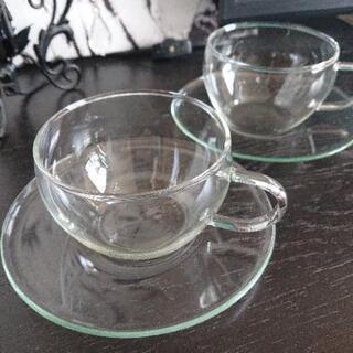 ガラスカップ&ソーサーペア