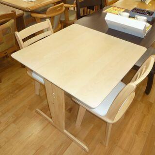 k168☆ダイニングテーブル3点セット☆テーブル+椅子2脚☆ナチ...