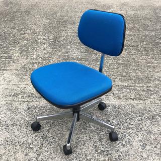 回転椅子 ブルー 座面高さ41〜51cm ☆その他多数出品してお...