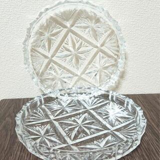 ノリタケ Noritake クリスタルガラスプレート 皿 二枚セット