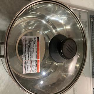 ルナ・クラリス ステンレス3層鋼 ソースパン IH 18cmガラス蓋付