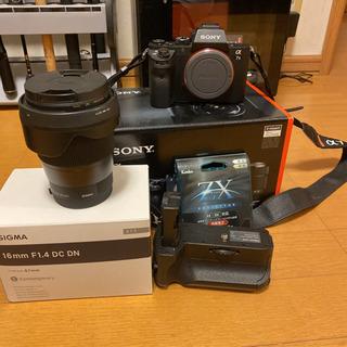 【ネット決済・配送可】a7ii シグマ16mmf1.4広角レンズセット
