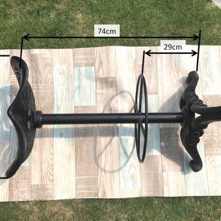 カウンターチェア(バースツール)2脚 鋳鉄 アイアン ハミルトン