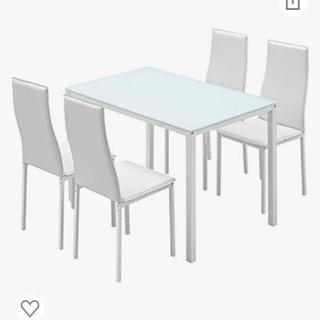 【超美品】【値段交渉可】ガラス張り ダイニングセット(テーブル、...