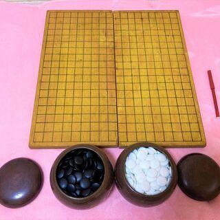 ★USED品・囲碁の碁石&木製の囲碁盤(板)42㎝×45㎝…