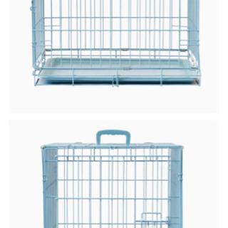 【1000円!】折り畳みペットケージ! 犬 猫 大 水色 ハンモ...