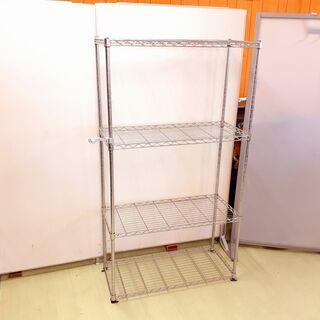 メタルラック 4段 食器棚やコレクション収納に♪