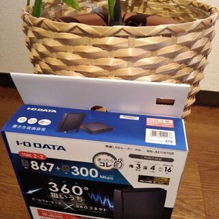 美品  無線LANルーター  IODATA  WN-AX1167GR