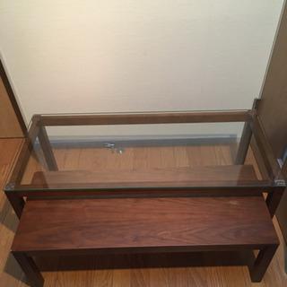 格納・拡張機能付きローテーブル