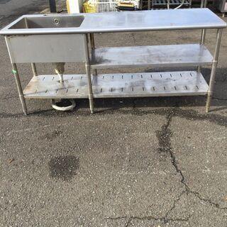 格安 ステンレス製 作業台付き1槽シンク 厨房業務用 流し…