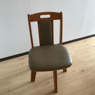 回転式ダイニングチェア PVCレザー 椅子