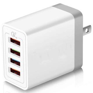 【ネット決済・配送可】USB急速充電器コンセント 4ポート
