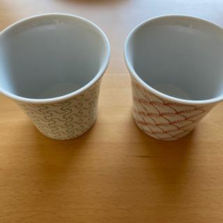 決まりました!コップ 湯呑み 2つセット 0円