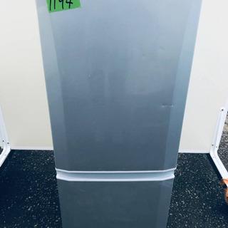 ①1194番 三菱✨ノンフロン冷凍冷蔵庫✨MR-P15T-S‼️