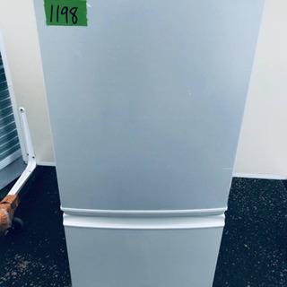 ①1198番シャープ✨ノンフロン冷凍冷蔵庫✨SJ-S14T-W‼️